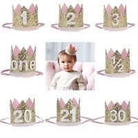 Bebé Niñas corona Diadema De Caveza Cinta turbante Para Fiesta Headband