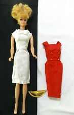 vintage  BARBIE  - Blonde Ponytail Doll  in White and/or Red Dress - Japan on ft