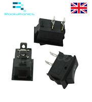 250v 3a Mini Barco Interruptor Oscilante Spst On-Off 2 Pin Plástico Negro