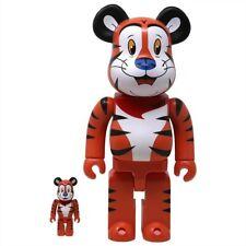 Medicom Be@Rbrick Kellogg's Tony The Tiger 100% 400% Bearbrick Figure Set