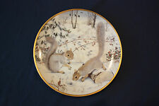 "Franklin Porcelain The Woodland Year ""Squirreling for Nuts in January"" Plate"