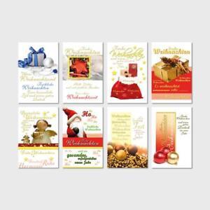 ab 17,5 ct, Weihnachtskarten mit Prägung, Grußkarten, Glückwunschkarten,