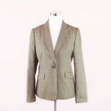 Brooks Brothers Women's Stellita Fit Blazer Size 6 100% Wool Brown Suit Jacket