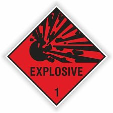1x EXPLOSIVE RED sticker Explosion warning danger for Laptop PC Bumper Fridge