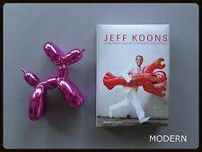 JEFF KOONS CONVERSATIONS BOOK + POP ART BALLOON DOG FIGURE SET -