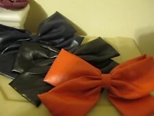 Lot of 3 leather large bows