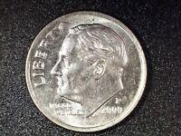 2000 P  ROOSEVELT DIME OFF CENTER/PARTIAL COLLAR ERROR COIN