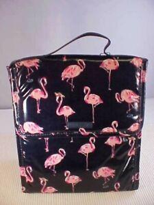Vera Bradley Flamingo Fiesta Lunch Sack Insulated Hook and Loop Closure Laminate