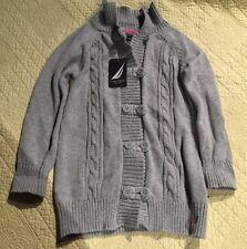 Nautica Heather Gray Girls Cardigan Sweater Size Medium 5