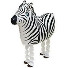 ZEBRA WALKING BALLOON FOIL HELIUM PET PARTY BIRTHDAY STRIPE AIRWALKER HORSE ZOO