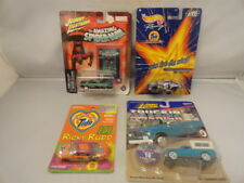 4 Hot Wheel Johnny Lightning Ricky Rudd Spiderman 1/64 Sealed Cars