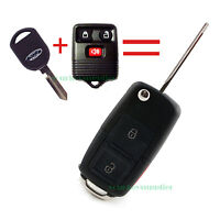 New Flip Key Fob Keyless Entry Remote Combo 3 Button for Ford VW Style