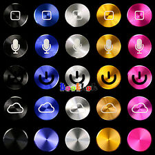 New Aluminium Metal Home button Stickers For iPhone4 4S Ipod Ipad2 3 Iphone 5