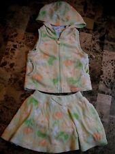 baby girls 2 PIECE TERRY CLOTH SKIRT SET outfit jacket BEACH POOL euc! 12 MONTHS