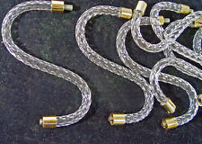 """SET OF 8 PIECES 8"""" CLEaR LUCITE ACRYLIC CHANDELIER ROPE ARMS- LOOKS  LIKE GLASS"""