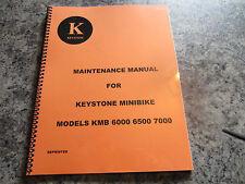 Keystone Mini Bike Maintenance Manual  (TAS 2 stroke) (Reprinted)