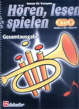 Hören, lesen & spielen, Schule für Trompete, Gesamtausgabe, m. 4 Audio-CDs von Tijmen Botma und Jaap Kastelein (2008, Taschenbuch)