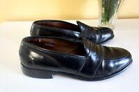 Allen Edmonds Ellington Men's Black Leather Slip On Dress Shoes Loafers, 9.5B