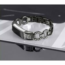 For Fitbit Alta HR Black Wrist Band Strap Stainless Steel Bracelet Replacement