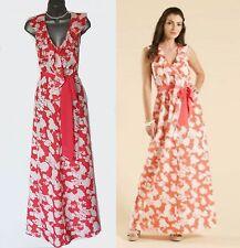 MONSOON Stunning FLEUR Floral Print Ruffle Summer Maxi Dress UK 12 MEDIUM