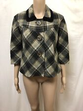 MANNING CARTELL JACKET COAT WOMENS ~ SIZE 10 ~ GREAT COND PLAID CHECKERED DESIGN