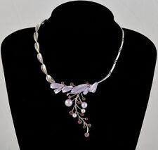Modeschmuck-Halsketten & -Anhänger aus Strass mit Perlen für Damen