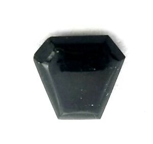 Antique Vintage Miniature Cut Corner Triangle Horse Head Stone Onyx   #J217