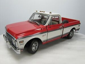 1972 CHEVY CHEYENNE PICKUP TRUCK 1/24 The Danbury Mint RED WHITE Missing Parts