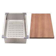 Everhard SQUARELINE PLUS SINK ACCESSORY KIT Colander & Chopping Board *AUS Brand
