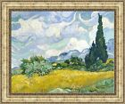 """Vincent van Gogh Wheat Field with Cypresses Framed Canvas 32.5""""x27"""" (V06-48)"""