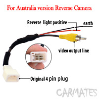 Reverse camera Harness for Toyota Hilux Hiace Yaris RAV4 GPS Stereo 2006-2013 AU