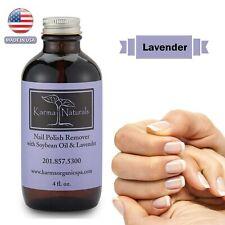Karma Organic Lavender Nail Polish Remover Acetone Free Nails Strengthener 4floz