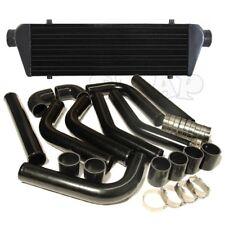 "28""X7""Turbo FMIC Intercooler+2.5""Aluminum Piping Pipe Kit Black 3ply Coupler New"