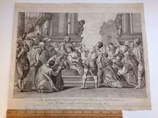 Antique Etching Judgment Of Solomon.
