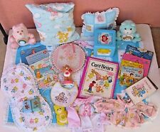 Vintage CARE BEARS 1980's Lot of 27 variety of Baby Items some Rare