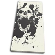 Skull Grunge  Illustration SINGLE DOEK WALL ART foto afdrukken