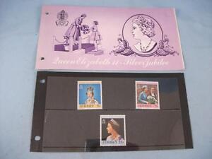 Jersey 'Queen Elizabeth II Silver Jubilee' Stamp presentation pack issue 7/2/77