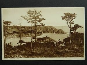 Channel Island JERSEY Portelet Bay - Old Postcard by The Greys Cigarette