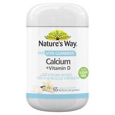 Nature's Way Adult Vita Gummies Calcium + Vitamin D Tablets 65 pack