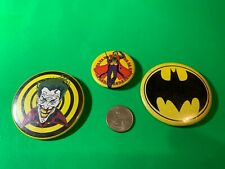 The JOKER and BATMAN  Pin back buttons lot of 3.