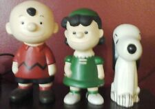 Vintage Ceramic Peanuts Characters (3) Lucy, Charlie Brown, and Snoopy