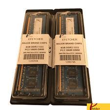 8GB (2 x 4GB) DDR3 1333 PC3 10600 240 Pin 1.5V CL9 Non ECC UDIMM For Desktop