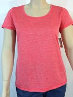 Joe Fresh T-Shirt Size XL Lt. Red Striped Short Sleeve Scoop Neck