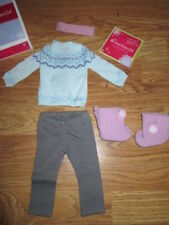 "Authentic 18"" AMERICAN GIRL DOLL FROSTY FAIR ISLE SET OUTFIT CLOTHES NEW Lanie"