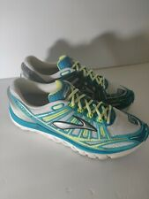 """Brooks Womens Size 11m(B) """"Transcend"""" Teal Yellow White Running pre -owned"""