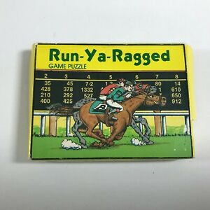 VINTAGE 1983 RUN-YA-RAGGED Game Puzzle by PinPoint Marketing Only ONE Solution!