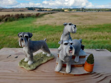 More details for matching schnauzer dogs country artists pair 04469 and sherratt & simpson 55134