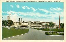 Florida, FL, Lakeland, Brotherhood of Carpenters & Joiners 1920's Postcard