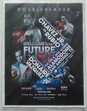 2012 Doubleheader Boxing Program - Chavez Jr vs Rubio, Donaire vs Vazquez Jr