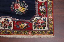 One-of-a-Kind NAVY BLUE Floral Bakhtiari Area Rug Hand-Knotted Oriental Wool 7x9